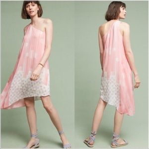 Anthropologie Maeve Avalonne Dress One Shoulder 10